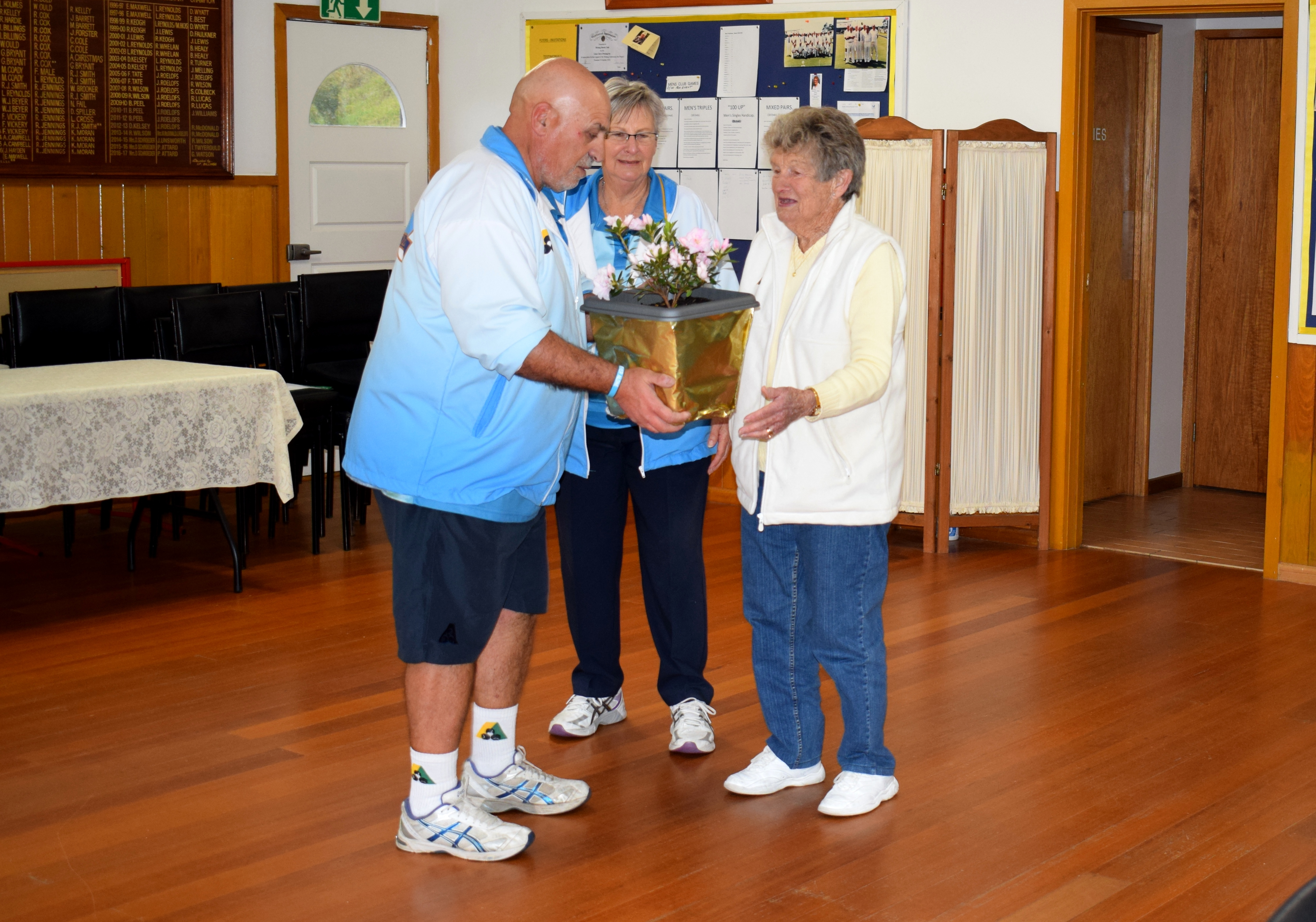 President - Peter Attard, Vice President - Dorothy Schroeder & Life Member - June Beale